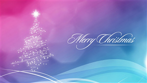Merry Christmas Greetings Abstract Wallpaper