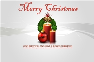 Merry Christmas Wishes Quote HD Wallpaper