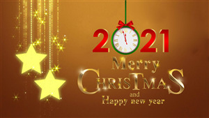 Merry Christmas and New Year 2021 HD Wallpaper