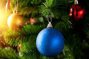 Nice Beautiful Blue Christmas Ball Wallpaper