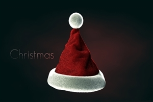 Nice Beautiful Christmas Cap Image on Holiday