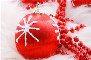 Red Christmas Decoration Ball Image