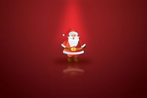 Santa Clause Image in Red Background Pic
