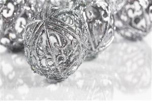 Silver Christmas Ball Photo