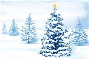 Snowy Christmas Tree Wallpapers