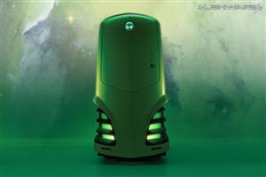 Alienware Green CPU Cabinet Wallpaper