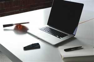 Laptop on Desk HD Wallpaper