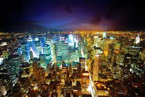 Amazing Night Look Lighting of New York City Wallpaper
