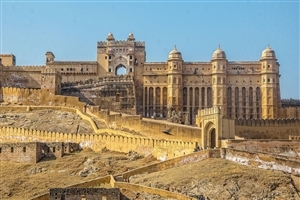 Amer Fort Tourist Place in India HD Photo