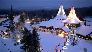 Beautiful Santa Claus Village in Rovaniemi Finland HD Wallpaper