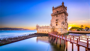 Belem Tower in Lisbon Tourist Attraction Portugal 4K Wallpapers