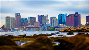 Boston Harbor in Massachusetts US Wallpaper