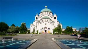 Church of Saint Sava in Belgrade Serbia Wallpaper