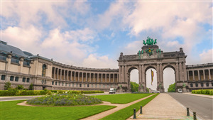 Cinquantenaire Park in the City of Brussels Belgium Tourist Place HD Wallpaper