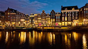 City of Netherlands Country Night View 4K Wallpapers