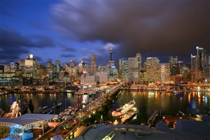 Darling Harbour City Centre of Sydney of Australia Country HD Wallpapers