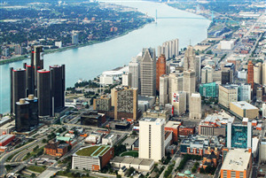 Detroit City Wallpaper of Michigan State of US