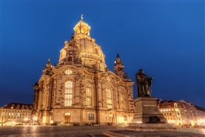 Dresden Frauenkirche Church in Dresden Germany Wallpaper