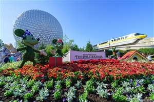 Epcot Beautiful Theme Park for Travel in Florida Wallpaper