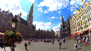 Grand Place Tourist Market in Brussels Belgium HD Wallpapers