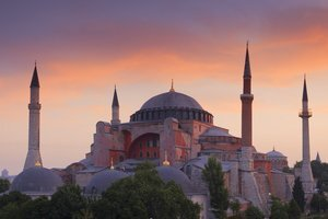 Hagia Sophia Attractive Basilica in Istanbul Turkey Country
