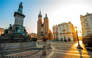 Krakow City of Poland 4K Wallpaper