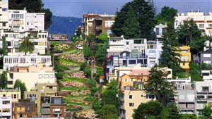 Lombard Street in San Francisco California HD Wallpaper