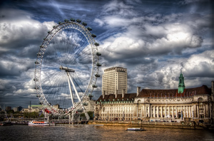 London Eye Ferris Wheel UK Travel 4K Wallpapers