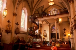 Loretto Chapel Church in Mexico USA Wallpaper