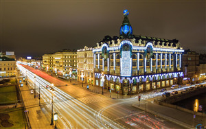 Nevsky Avenue Main Street in Saint Petersburg Russia For Tourist Visit HD Photo