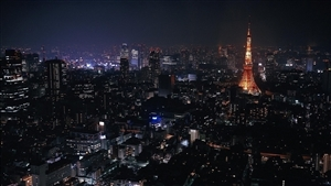 Night View of Tokyo City of Japan HD Wallpapers