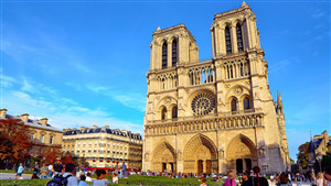Notre Dame de Cathedral in Paris France 4K Wallpaper