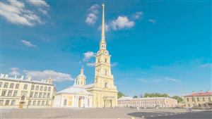 Peter and Paul Fortress Museum in Saint Petersburg Russia 4K Tourist Pics