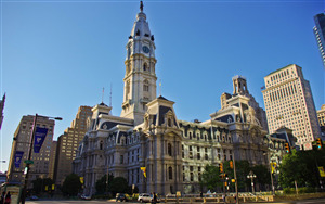 Philadelphia City Hall in Pennsylvania US Wallpaper