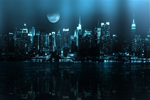 Photos of Blue Cityscape on Night View
