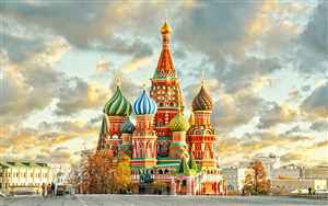 Red Square Plaza in Moscow Russia Tourist Place Wallpaper