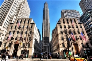 Rockefeller Center in in New York Country US Tourist Place Wallpaper