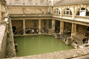 Roman Baths Museum in Bath England Tourist Place HD Photo