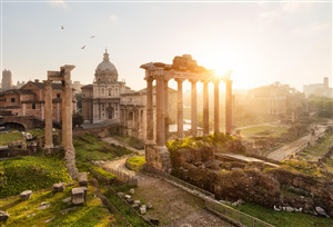 Roman Forum Historical Place in Rome Italy 5K Wallpaper