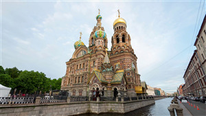 Savior on the Spilled Blood Church in Saint Petersburg Russia Travel Photo