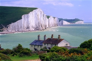 Seven Sisters Cliffs Sussex England Country Torist Place Wallpaper