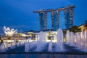 Singapore Country Fountain HD Wallpaper