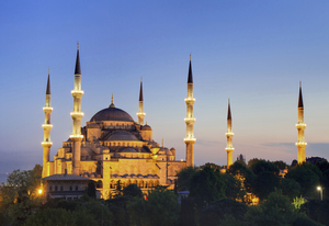 Sultan Ahmed Mosque Night View in Turkey Country Images