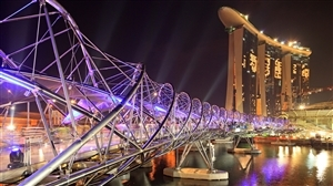 The Helix Bridge in Singapore