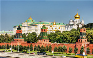 The Moscow Kremlin in Russia Beautiful Tourist Place Wallpaper