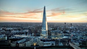 The Shard Skyscraper in London England 4K Wallpapers