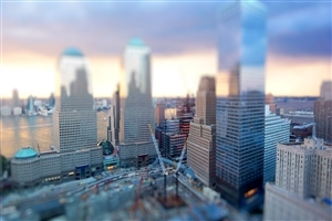 Tilt Shift Photos of Long Buildings of City Wallpapers