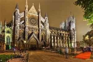Westminster Abbey Church in London England Tourist Place Photo