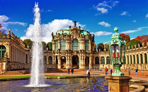 Zwinger Museum in Dresden City Germany Wallpaper