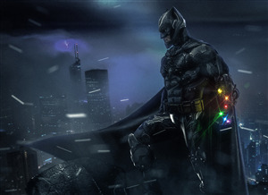 Batman Infinity Gauntlet Creative Wallpaper